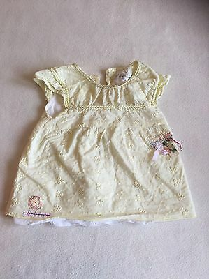 Baby Girls Clothes 6-9 Months- Cute Frilly Shirt Top