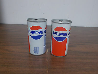 "Set Of Two Vintage 12 Oz Pepsi-Cola Cans  With ""have A Nice Day"" Greeting"