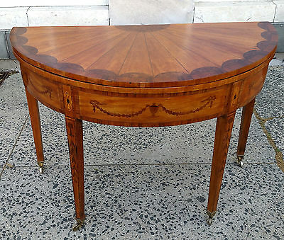 Antique ENGLISH 19th C FLIP TOP GAME Center TABLE CONSOLE Server Sideboard