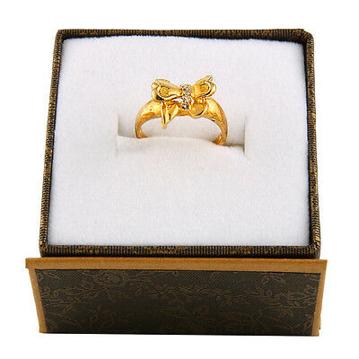 10k Yellow Gold fancy bow shaped ring  RD-26