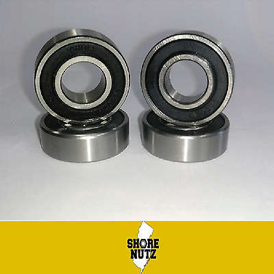 (4) 99502H Mower Spindle Sealed Ball Bearing 5/8 X 1-3/8 X .433 Wide Go Kart