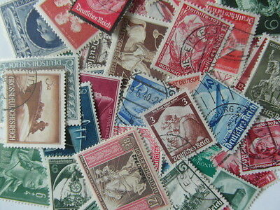 GERMANY 3rd REICH / Adolf Hitler / WWII Era Commemorative Stamps 25 Mint / Used