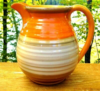 VINTAGE SHELLEY ART DECO BANDED PITCHER HARMONY c1930's