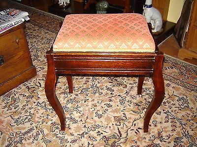 Edwardian mahogany piano stool