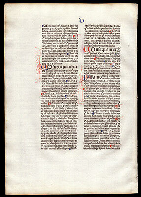 The Sentences of Peter Lombard Bishop of Paris 1477 Incunable Commentary