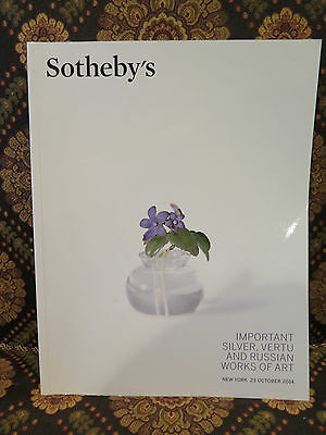 Sothebys Important Silver Vertu Russian Ename Icons Niello Works of Art Catalog