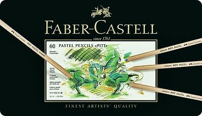 Colour pencil PITT PASTEL tin Pastels Pencils FABER CASTELL of 60 colours