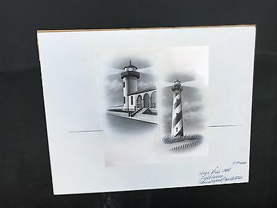 Production Artwork - Lighthouses - Admiralty Head/ Cape Hatteras