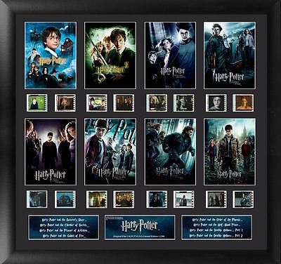 "HARRY POTTER Fantasy Movie Series 1- 8 FILM CELL and PHOTO MONTAGE 19"" x 20"" New"