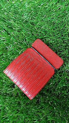 New cash cover wallet golf,real teju lizard skin,red color by Franko designs.