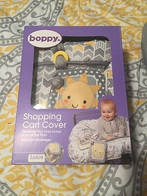 Boppy Shopping Cart Cover New In Box Grey Yellow Awesome For Babies