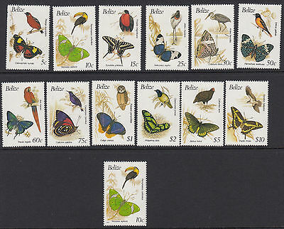 BELIZE :1990 Birds & Butterflies   set + 1993 10c reprint SG1067-78a+1068b MNH
