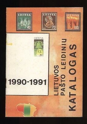 LITHUANIA, Postal Issues of the LITHUANIAN REPUBLIC 1990-91, Catalogue