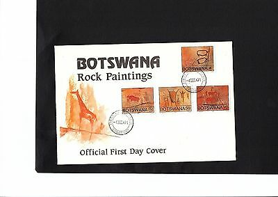 Botswana 1991 Rock paintings FDC with insert