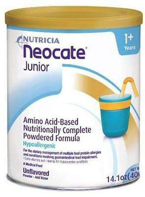 Nutricia Neocate Junior Jr 14.1oz (4 Cans) Unflavored ***Free Fast Shipping**