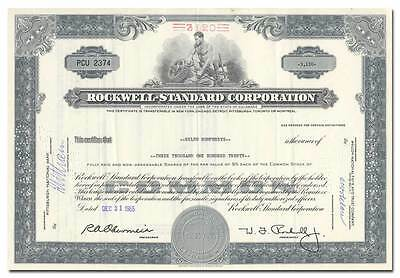Rockwell-Standard Corporation Stock Certificate