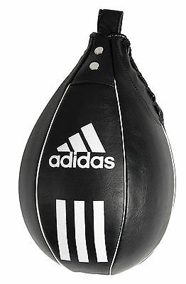 Adidas Leather Speed Ball Punch Bag Hanging Boxing Speedball Lace Up Black