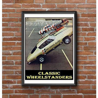 Classic Wheelstanders Poster - NHRA Vintage Drag Racing 4 Historic Vehicles