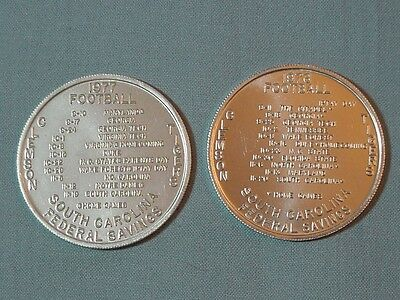 Pair of South Carolina Football Schedule Tokens