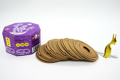 64 Pieces lavender Incense Coils Traditional Incense Free Incense Holder