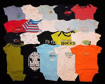 20 pc. Baby Boys 3/6 Summer One Piece Bodysuits Clothes Lot Free Ship!