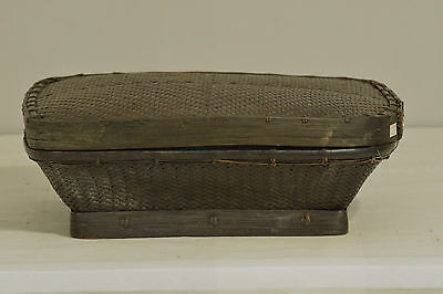 Philippines Ifugao Woven Rice Basket Container