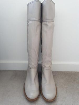 NINE WEST leather knee high boots flat heel size 10