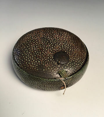 Antique Chinese shagreen-covered spectacle or monocle case