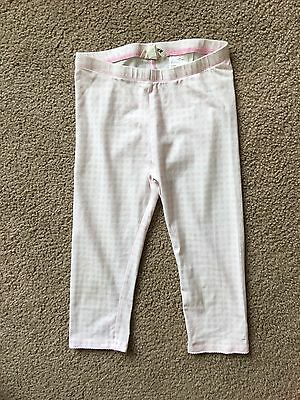 H & M Girl's white and pink leggings pants Size 7-8 Y