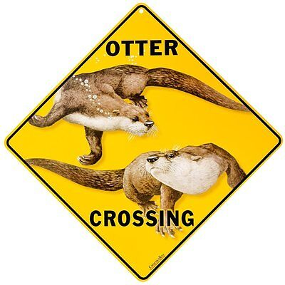 """OTTER Aluminum Crossing Sign, 12"""" on sides, 16"""" on diagonal"""