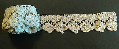A1 Antique Crochet Lace Primitive Prim Edging Trim Sewing Craft Cotton Projects