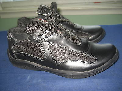 BEAUTIFUL WOMEN'S PRADA BLACK FASHION SNEAKERS SHOES sz 38 , US 8
