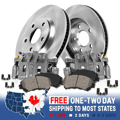 Front OE Brake Calipers and Rotors Ceramic Pads Kit FITS 2004 2005 NISSAN MAXIMA