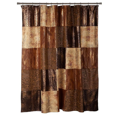 Popular Bath Zambia Copper Shower Curtain New