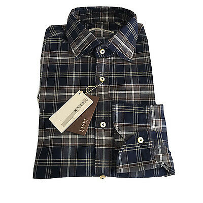 XACUS men's shirts check 100% cotton slim fit