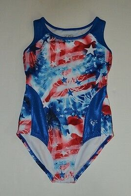 Justice for Girls Dance Gymnastics Patriotc 4th of July Leotard size 10
