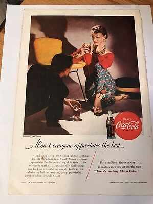"Coca Cola coke magazine ad advertisement 1955 10"" x 7"" Panagra"