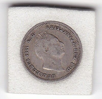 1836  King   William   IV   Four  Pence  (Groat)  Coin  (92.5% Silver)