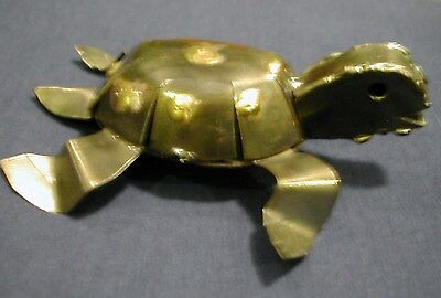 Interesting Small Metal Turtle Made In Mexico