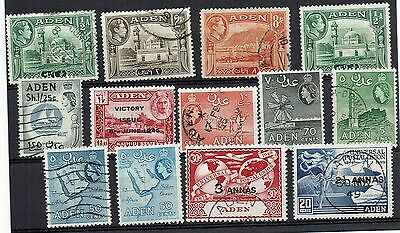 "Collection of Aden stamps  "" Various  KGV1 QE11 Postal Union"