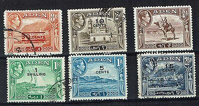 "Collection of Aden stamps 1951   "" Issues of 1939-1945 surcharged"""