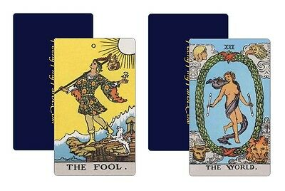 22 Tarot Trumps based on Waite-Smith design first published by Wm. Rider & Son