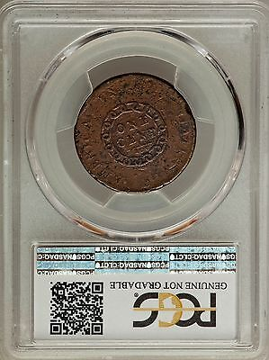 1793 Flowing Hair Large Cent America S-3, B-4, R.3 Pcgs Vg Details, Sharp Detail