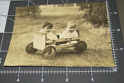 1910's Homeage WAGON Shipping Apple Crate Toy Children Vintage Snapshot PHOTO
