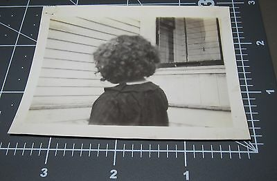 BACK OF HEAD Curly Hair Girl Abstract Black Child? Afro? Vintage Snapshot PHOTO