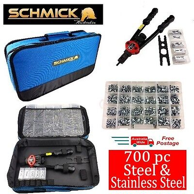 700pc RIVNUT KIT PLUS TOOL BAG STAINLESS STEEL NUTSERTS SET RIVNUTS RIVET NUT