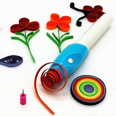 Electric Slotted Paper Craft Quilling DIY Origami Winder Steel Curling Pen