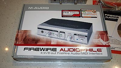 M-Audio Firewire Audiophile Audio/MIDI Interface (4-in/6-out) + manuals/cables