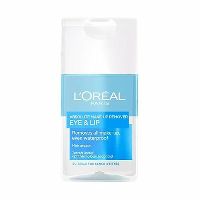 LOreal Paris Absolute Make Up Remover Eye Lip 125ml Top Quality Fast Delivery
