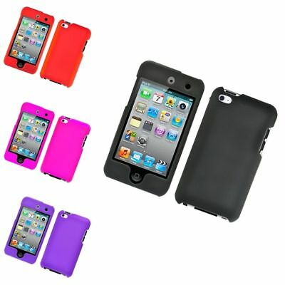 For Apple iPod Touch 4th Gen Hard Rubber Case Cover